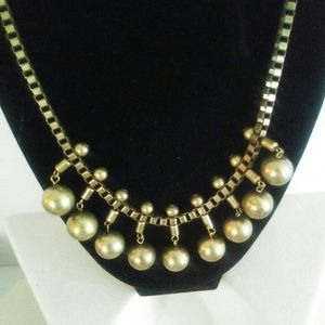 Statement Brass colored Necklace